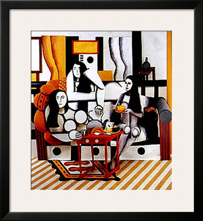 Hommage a Leger Print by Ryan Rossler