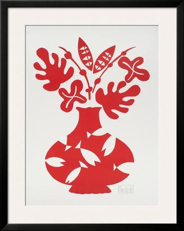 Vase III Rouge Art by Marco Del Re