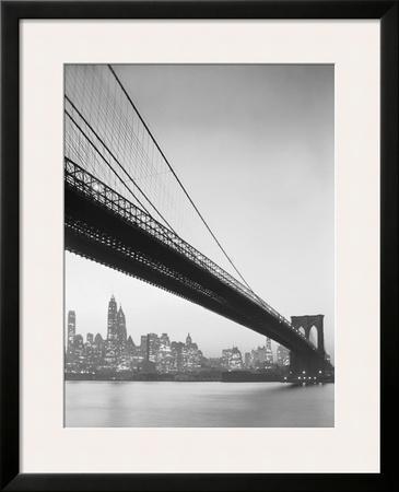 Brooklyn Bridge and Manhattan Skyline Posters by Charles Rotkin