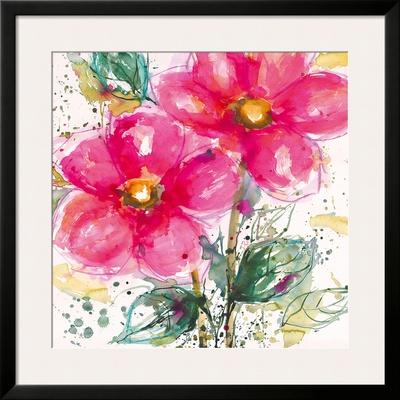 Pink Flower II Art by Lilian Scott