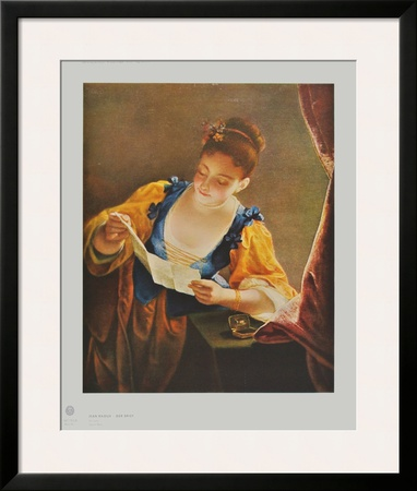 The Letter - large Prints by Jean Raoux