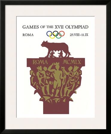 Games of the XVII Olympiad, Roma, c.1960 Framed Giclee Print by Armando Testa