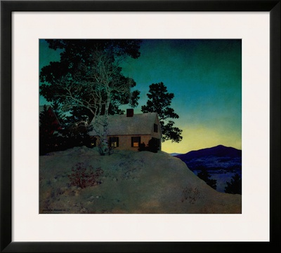 Dusk Posters by Maxfield Parrish