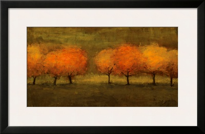 Red Trees II Prints by Seth Winegar