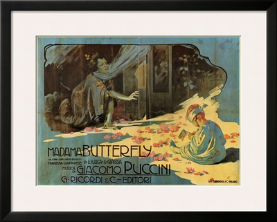 Puccini, Madama Butterfly Art by Adolfo Hohenstein
