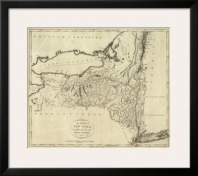 State of New York, c.1796 Prints by John Reid