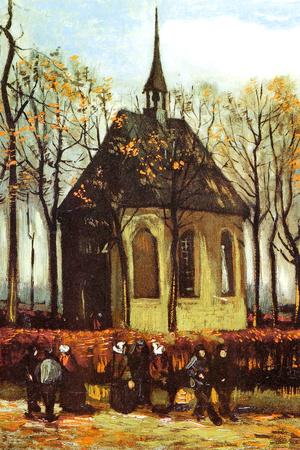 Vincent Van Gogh Congregation Leaving the Reformed Church in Nuenen Prints by Vincent van Gogh