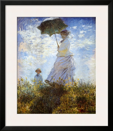 Madame Monet and Her Son Print by Claude Monet