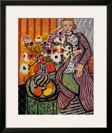 Purple Robe Prints by Henri Matisse