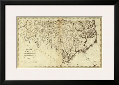State of North Carolina, c.1796 Posters by John Reid