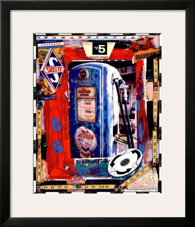 Blue Pump Framed Giclee Print by Dave Newman