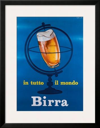 In Tutto il Mondo Birra Framed Giclee Print by E. Arvati
