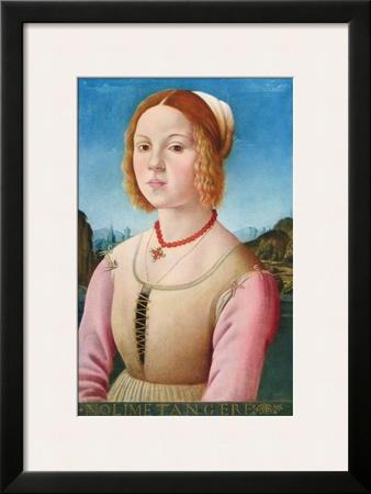 Portrait of a Young Girl, Noli Me Tangere Print by Lorenzo Credi