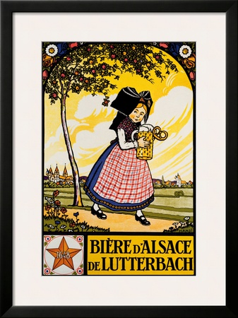 Bieres d'Alsace Framed Giclee Print by  Hansi