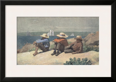 On the Beach, 1875 Print by Winslow Homer