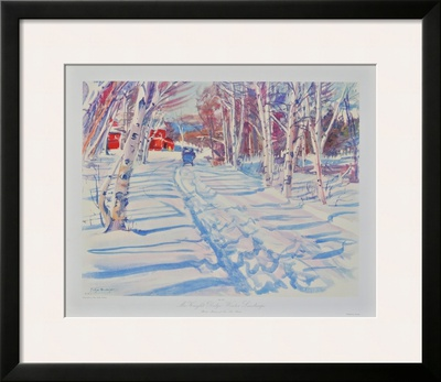 Landscape in Winter Print by Dodge Mac Knight