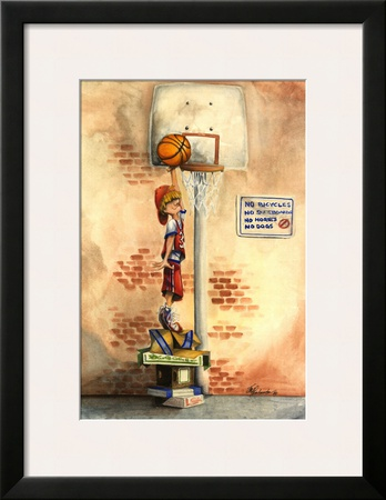 Slam Dunk Prints by Jay Throckmorton