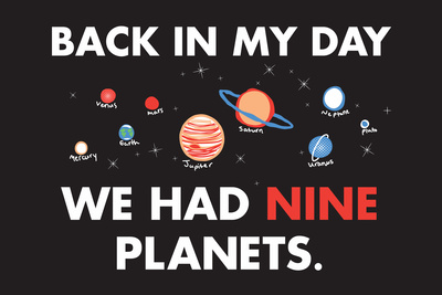 Nine Planets Snorg Tees Plastic Sign Plastic Sign by  Snorg