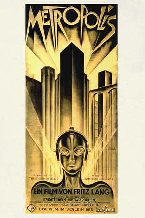 Metropolis Movie Fritz Lang Plastic Sign Plastic Sign