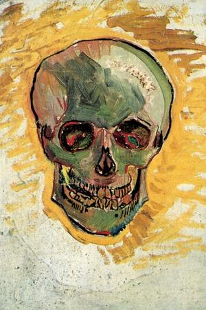 Vincent Van Gogh Skull Plastic Sign Plastic Sign by Vincent van Gogh