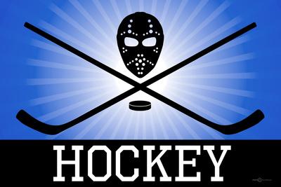 Hockey Blue Sports Plastic Sign Plastic Sign