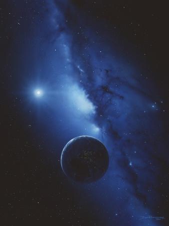 Earth & Milky Way Photographic Print by Detlev Van Ravenswaay