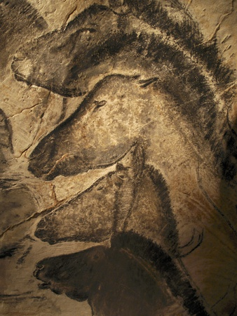 Stone-age Cave Paintings, Chauvet, France Premium Photographic Print by Javier Trueba