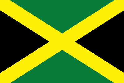 Jamaica National Flag Plastic Sign Plastic Sign