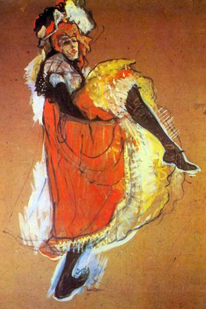 Henri de Toulouse-Lautrec Jane Avril Dancing Plastic Sign Cartel de plástico por Henri de Toulouse-Lautrec