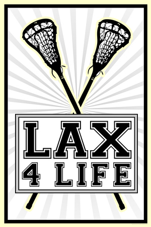 Lax 4 Life Lacrosse Sports Plastic Sign Plastic Sign