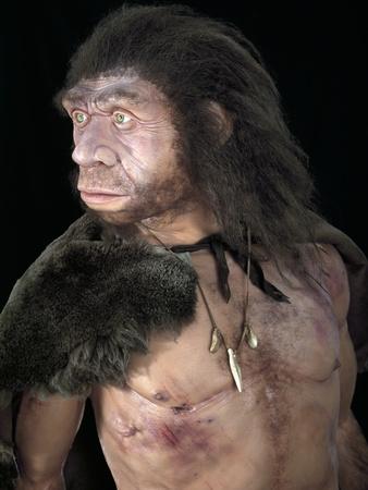 Neanderthal Man Premium Photographic Print by Javier Trueba