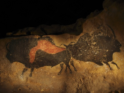 Stone-age Cave Paintings, Lascaux, France Premium Photographic Print by Javier Trueba