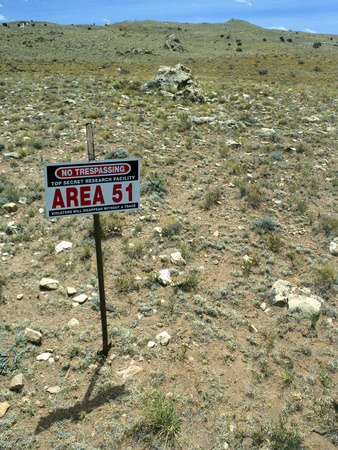 Area 51 UFO Site Photographic Print by Detlev Van Ravenswaay