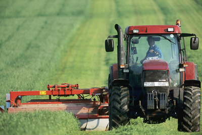 Tractor Cutting Grass for Silage Photographic Print by Jeremy Walker
