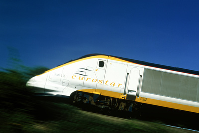View of a Eurostar Channel Tunnel Train Photographic Print by Jeremy Walker