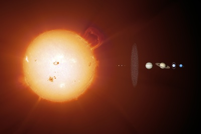 Sun And Planets, Size Comparison Photographic Print by Detlev Van Ravenswaay