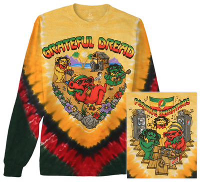 Long Sleeve: Grateful Dead - Positive Vibrations Long Sleeves