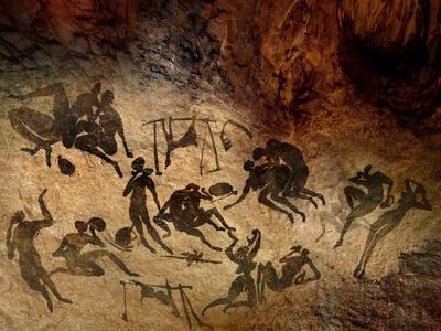 Cave Painting, Artwork Premium Photographic Print by  SMETEK