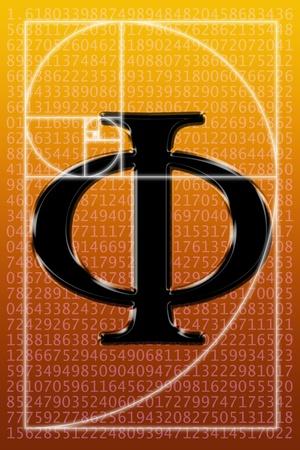 Fibonacci Spiral And Phi, Artwork Lámina fotográfica por  SEYMOUR