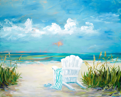 Beach Scene II Posters by Julie DeRice