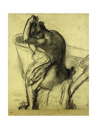 After the Bath Premium Giclee Print by Edgar Degas