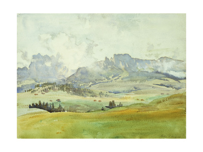 In the Dolomites Premium Giclee Print by John Singer Sargent