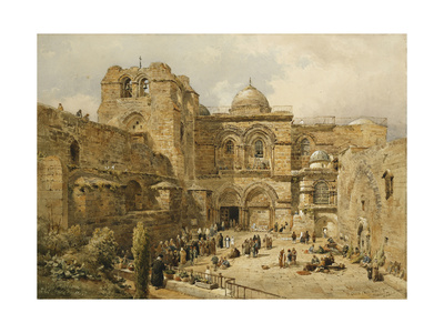 The Church of the Holy Sepulchre, Jerusalem Premium Giclee Print by Nathaniel Everett Green