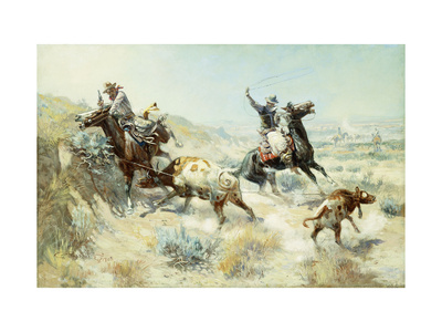 Range Mother Premium Giclee Print by Charles Marion		 Russell