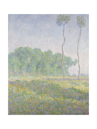 Landscape in the Spring (Giverny) Premium Giclee Print by Claude Monet