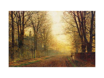 The Autumn's Golden Glory Premium Giclee Print by John Atkinson Grimshaw