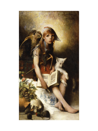 The Witch's Daughter Premium Giclee Print by Carl Larsson