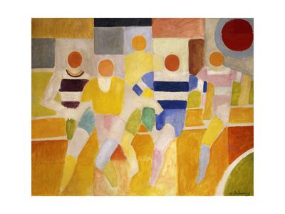 The Runners Premium Giclee Print by Robert Delaunay
