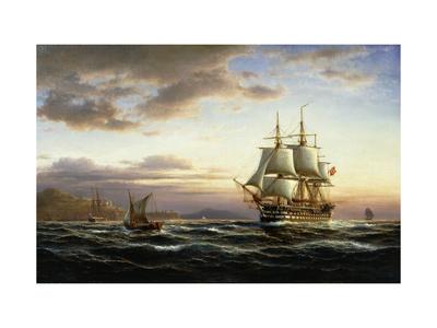 Shipping on the Bosphorus Premium Giclee Print by Franz Johann Wilhelm Hunten