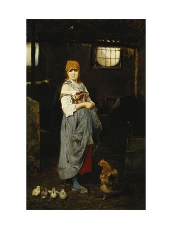 The Farm Girl Lámina giclée por F. Ducale